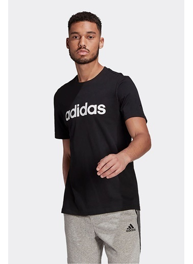 adidas Adidas Erkek Günlük T-Shirt M Lin Sj T Gl0057 Siyah